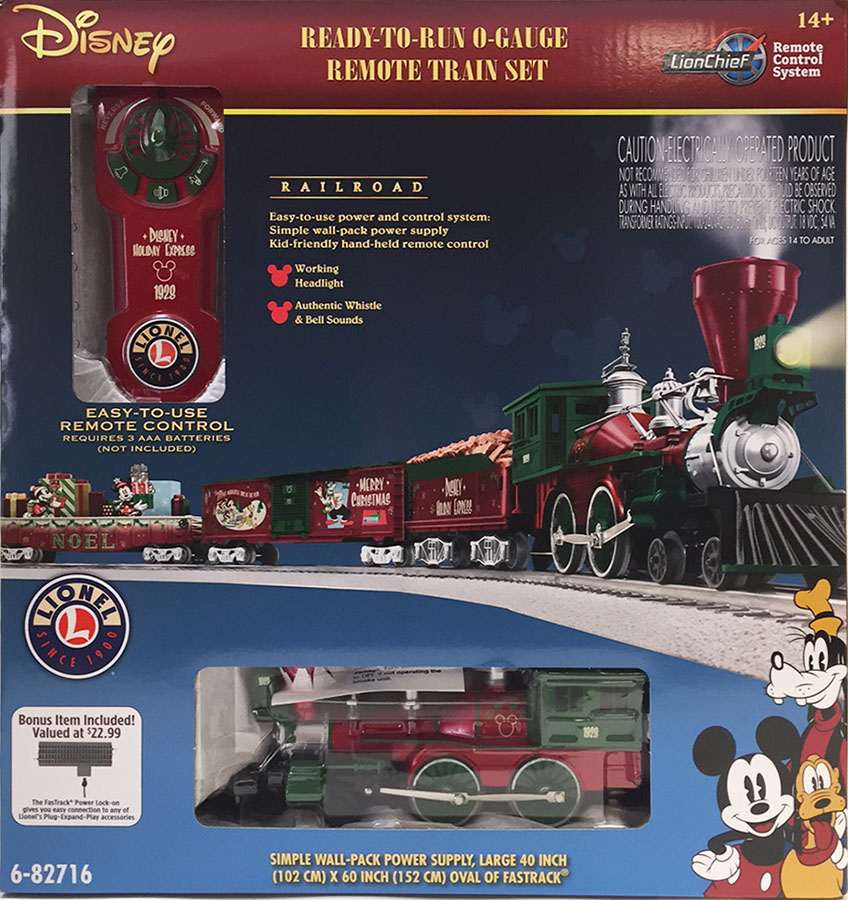 6 82716 lionel mickeys holiday to remember disney christmas lionchief train set - Disney Christmas Train