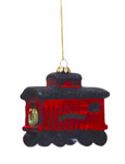 Glass Caboose Ornament