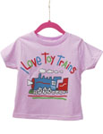 I Love Toy Trains T-Shirt Pink