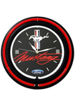 Ford Mustang Double Neon Wall Clock